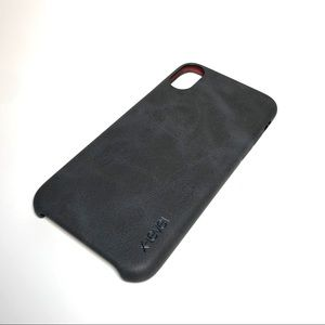 Other - Vintage Black leather iPhone X ultra Thin Case